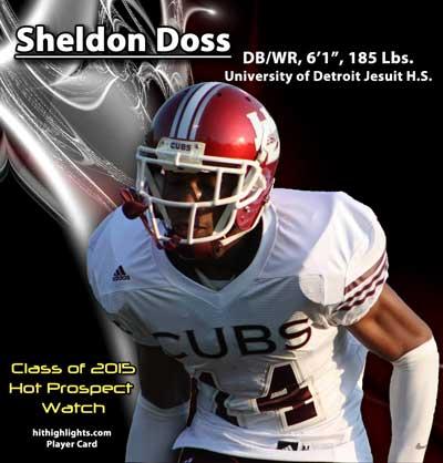 Sheldon Doss Football Player Card
