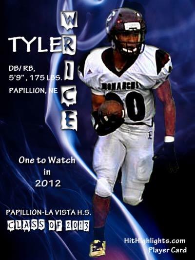 Tyler Wrice Football Player Card
