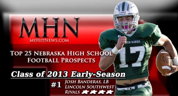 MHN Class of 2013 Early-Season-Top-25-Football Banner featuring Josh Baneras