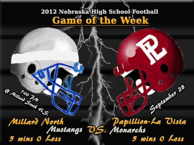Millard North vs. Papillion-La Vista 2012 Football Game Poster